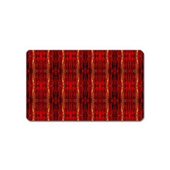 Red Gold, Old Oriental Pattern Magnet (name Card) by Costasonlineshop