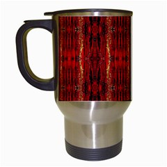 Red Gold, Old Oriental Pattern Travel Mugs (white) by Costasonlineshop