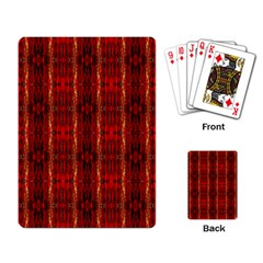 Red Gold, Old Oriental Pattern Playing Card by Costasonlineshop