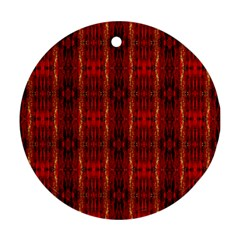 Red Gold, Old Oriental Pattern Round Ornament (two Sides)  by Costasonlineshop