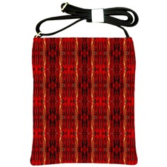 Red Gold, Old Oriental Pattern Shoulder Sling Bags by Costasonlineshop