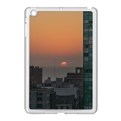 Aerial View Of Sunset At The River In Montevideo Uruguay Apple Ipad Mini Case (white) by dflcprints