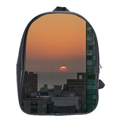 Aerial View Of Sunset At The River In Montevideo Uruguay School Bags (xl)  by dflcprints
