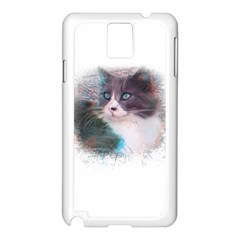 Cat Splash Png Samsung Galaxy Note 3 N9005 Case (white) by infloence