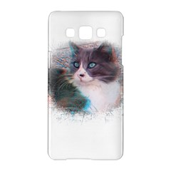 Cat Splash Png Samsung Galaxy A5 Hardshell Case  by infloence