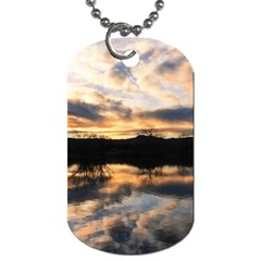Sun Reflected On Lake Dog Tag (one Side) by trendistuff