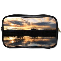 Sun Reflected On Lake Toiletries Bags 2 Side by trendistuff