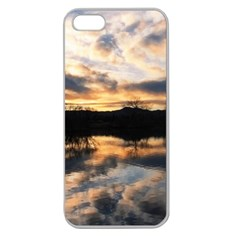 Sun Reflected On Lake Apple Seamless Iphone 5 Case (clear) by trendistuff