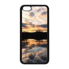 Sun Reflected On Lake Apple Iphone 5c Seamless Case (black)