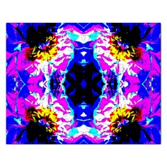 Animal Design Abstract Blue, Pink, Black Rectangular Jigsaw Puzzl by Costasonlineshop