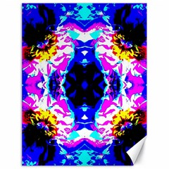 Animal Design Abstract Blue, Pink, Black Canvas 18  X 24   by Costasonlineshop