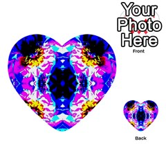 Animal Design Abstract Blue, Pink, Black Multi Purpose Cards (heart)  by Costasonlineshop