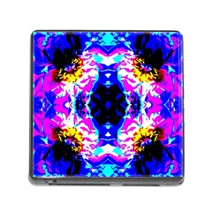 Animal Design Abstract Blue, Pink, Black Memory Card Reader (square) by Costasonlineshop