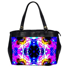 Animal Design Abstract Blue, Pink, Black Office Handbags (2 Sides)  by Costasonlineshop