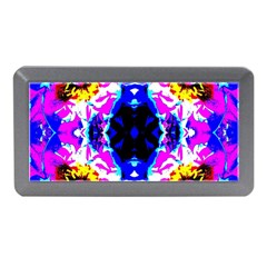 Animal Design Abstract Blue, Pink, Black Memory Card Reader (mini) by Costasonlineshop