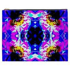 Animal Design Abstract Blue, Pink, Black Cosmetic Bag (xxxl)  by Costasonlineshop