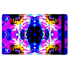 Animal Design Abstract Blue, Pink, Black Apple Ipad 3/4 Flip Case by Costasonlineshop