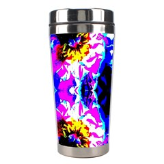Animal Design Abstract Blue, Pink, Black Stainless Steel Travel Tumblers by Costasonlineshop