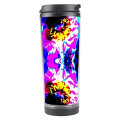 Animal Design Abstract Blue, Pink, Black Travel Tumblers by Costasonlineshop