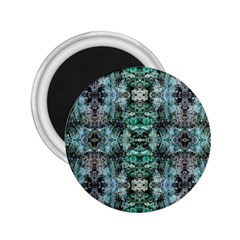 Green Black Gothic Pattern 2 25  Magnets by Costasonlineshop