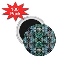 Green Black Gothic Pattern 1 75  Magnets (100 Pack)  by Costasonlineshop