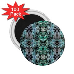 Green Black Gothic Pattern 2 25  Magnets (100 Pack)  by Costasonlineshop