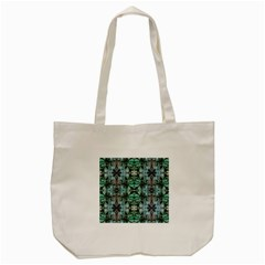 Green Black Gothic Pattern Tote Bag (cream)  by Costasonlineshop