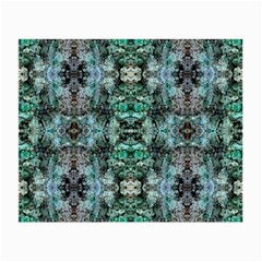 Green Black Gothic Pattern Small Glasses Cloth by Costasonlineshop