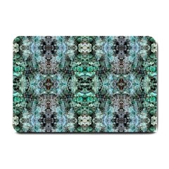 Green Black Gothic Pattern Small Doormat  by Costasonlineshop