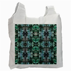 Green Black Gothic Pattern Recycle Bag (two Side)  by Costasonlineshop