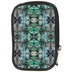 Green Black Gothic Pattern Compact Camera Cases by Costasonlineshop