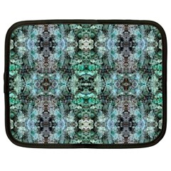 Green Black Gothic Pattern Netbook Case (xxl)  by Costasonlineshop