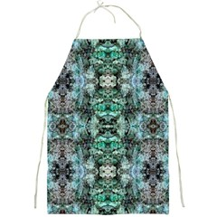 Green Black Gothic Pattern Full Print Aprons by Costasonlineshop