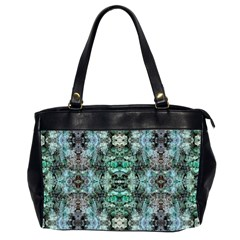 Green Black Gothic Pattern Office Handbags (2 Sides)  by Costasonlineshop