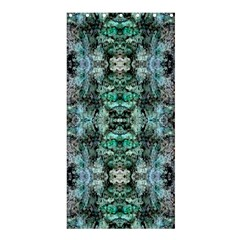 Green Black Gothic Pattern Shower Curtain 36  X 72  (stall)  by Costasonlineshop