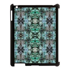 Green Black Gothic Pattern Apple Ipad 3/4 Case (black) by Costasonlineshop