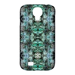 Green Black Gothic Pattern Samsung Galaxy S4 Classic Hardshell Case (pc+silicone) by Costasonlineshop