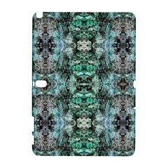 Green Black Gothic Pattern Samsung Galaxy Note 10 1 (p600) Hardshell Case by Costasonlineshop