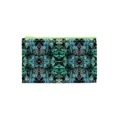Green Black Gothic Pattern Cosmetic Bag (xs) by Costasonlineshop