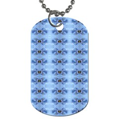 Pastel Blue Flower Pattern Dog Tag (one Side) by Costasonlineshop