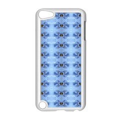Pastel Blue Flower Pattern Apple Ipod Touch 5 Case (white) by Costasonlineshop