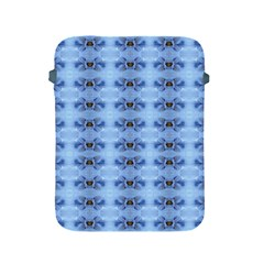 Pastel Blue Flower Pattern Apple Ipad 2/3/4 Protective Soft Cases by Costasonlineshop