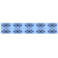 Pastel Blue Flower Pattern Flano Scarf (large)  by Costasonlineshop