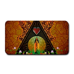 Surfing, Surfboard With Flowers And Floral Elements Medium Bar Mats by FantasyWorld7