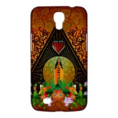 Surfing, Surfboard With Flowers And Floral Elements Samsung Galaxy Mega 6 3  I9200 Hardshell Case by FantasyWorld7