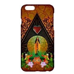 Surfing, Surfboard With Flowers And Floral Elements Apple Iphone 6 Plus/6s Plus Hardshell Case by FantasyWorld7