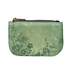 Wonderful Flowers In Soft Green Colors Mini Coin Purses