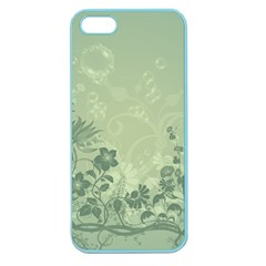 Wonderful Flowers In Soft Green Colors Apple Seamless Iphone 5 Case (color) by FantasyWorld7