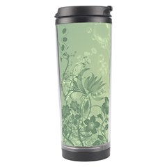 Wonderful Flowers In Soft Green Colors Travel Tumblers by FantasyWorld7