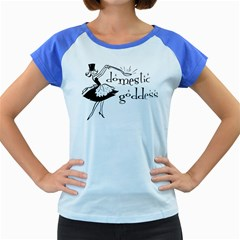 Domestic Goddess Women s Cap Sleeve T Shirt